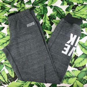 5 for $25 PINK VS Gray Heathered Jogger Sweatpants